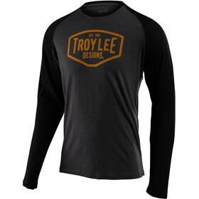 Troy Lee Designs Motor Oil LS Tee, szary/czarny